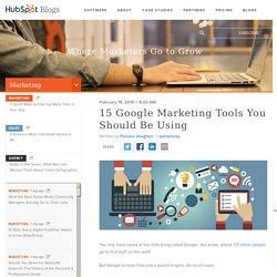 16 Google Tools to Improve Marketing Effectiveness