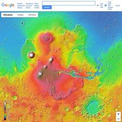 Google和美國太空總署、亞利桑那州立大學共同合作推出的火星地圖