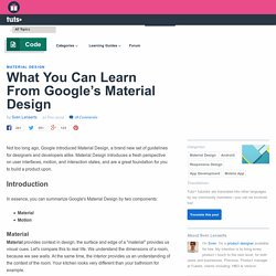 What You Can Learn From Google's Material Design - Tuts+ Code Article