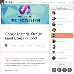 Google Material Design Input Boxes in CSS3