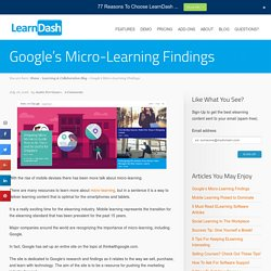 Google's Micro-Learning Findings