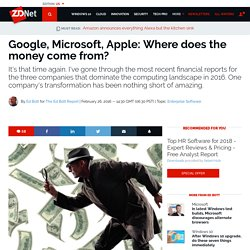 Google, Microsoft, Apple: Where does the money come from?