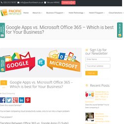 Google Apps vs. Microsoft Office 365 – Which is best for Your Business?