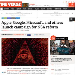 Apple, Google, Microsoft, and others launch campaign for NSA reform