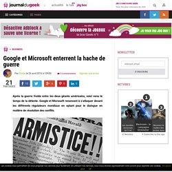 Google et Microsoft enterrent la hache de guerre