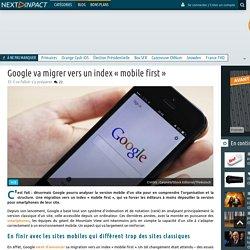 Google va migrer vers un index « mobile first »