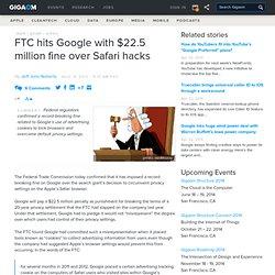 FTC hits Google with $22.5 million fine over Safari hacks