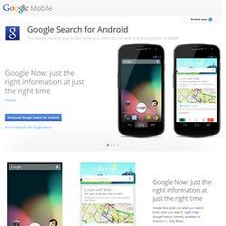 Pesquisa do Google para seu telefone