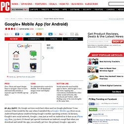 Google+ Mobile App (for Android) Review & Rating