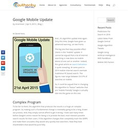 The Google Mobile Update And What It Means For Your Website
