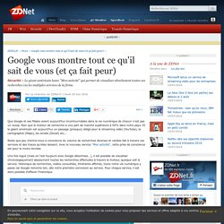 Google vous montre tout ce qu'il sait de vous (et ça fait peur) - ZDNet