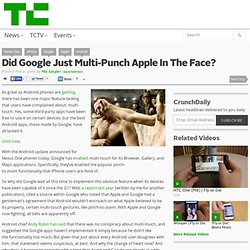Did Google Just Multi-Punch Apple In The Face?