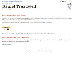 The Google+ musings of Daniel Treadwell
