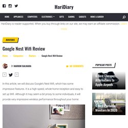 Google Nest Wifi Review - HariDiary