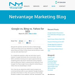 Google vs. Bing vs. Yahoo for SEO