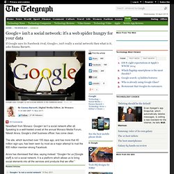 Google+ isn't a social network: it's a web spider hungry for your data