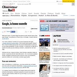 Google, la bonne nouvelle