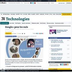 Google+ pour les nuls