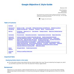 Google Objective-C Style Guide