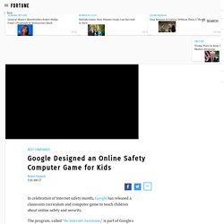 Google Online Game Teaches Kids Safety and Security