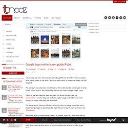 Google buys online travel guide Ruba