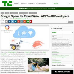 Google Opens Its Cloud Vision API To All Developers
