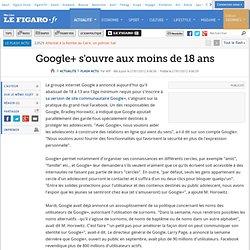 Google+ s'ouvre aux ados de plus de 13 ans