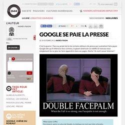 Google se paie la presse