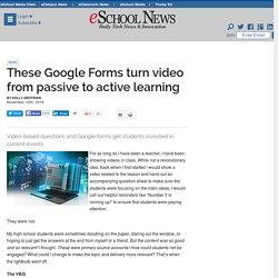 These Google Forms turn video from passive to active learning