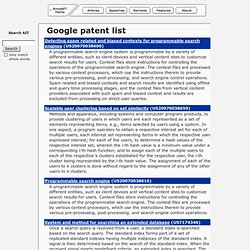 Google Patents :: ArnoldIT