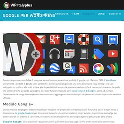 Google per Wordpress - WP Italyplus