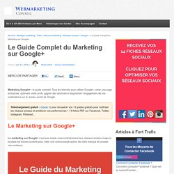 ▶ Marketing sur Google+