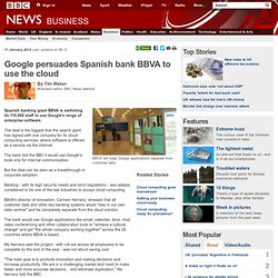 Google persuades Spanish bank BBVA to use the cloud