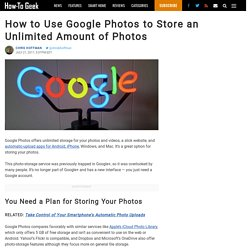 How to Use Google Photos to Store an Unlimited Amount of Photos