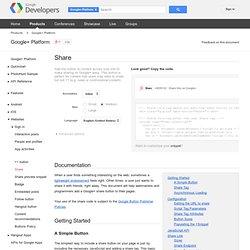 Share - Google+ Platform