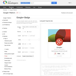 Badge - Google+ Platform