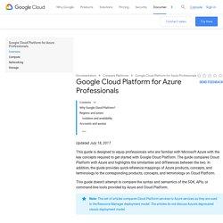 Google Cloud Platform for Azure Professionals