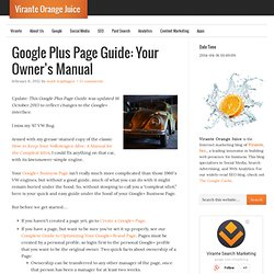 """How to Use Your Google+ Business Page: Your """"Owner's Manual"""""""