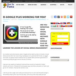 Is Google Plus working for you?Hot In Yuma