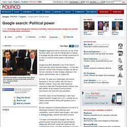 Google search: Political power - POLITICO.com Print View