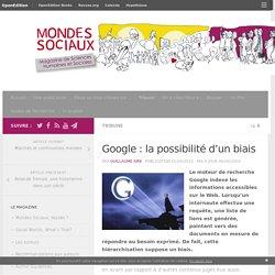 Google : la possibilité d'un biais