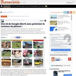 Une IA de Google décrit avec précision le contenu de photos !