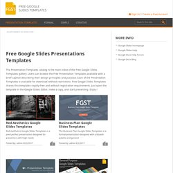 Free Google Slides Presentations Templates