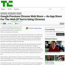 Google Previews Chrome Web Store — An App Store For The Web (If