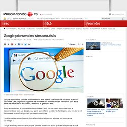 Google priorisera les sites sécurisés