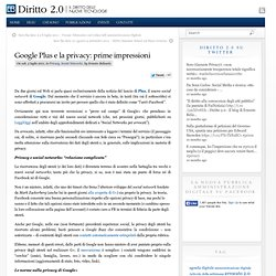 Google Plus e la privacy: prime impressioni
