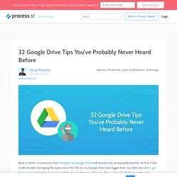 25 Google Drive Tips You've Probably Never Heard Before