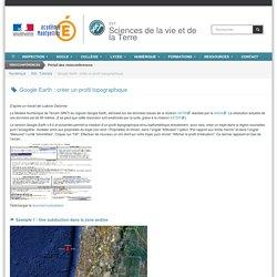 Google Earth : créer un profil topographique