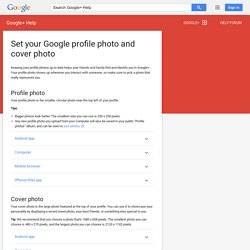 Set your Google profile photo and cover photo - Google+ Help