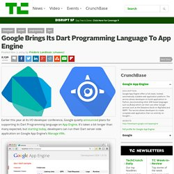 Google Brings Its Dart Programming Language To App Engine